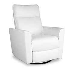 image of baby appleseed crosby comfort swivel glider in white