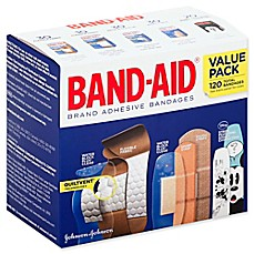 image of Johnson & Johnson Band-Aid® 120-Count Adhesive Bandages Value Pack