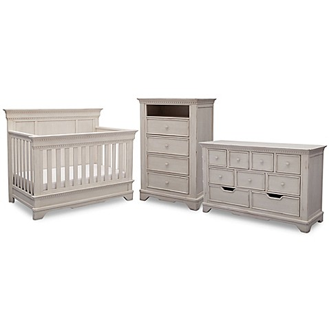 Simmons Kidsu0026reg; Tivoli Nursery Furniture Collection In Antique White