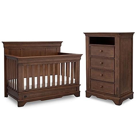 Simmons Kidsu0026reg; Tivoli Nursery Furniture Collection In Antique Chestnut