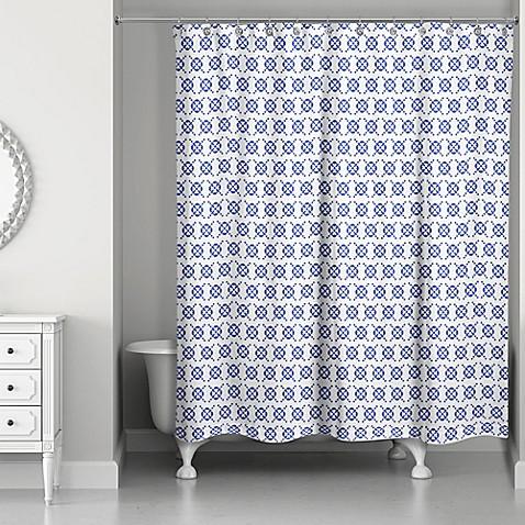 Designs Direct Preppy Stitch 71-Inch x 74-Inch Shower Curtain - Bed ...
