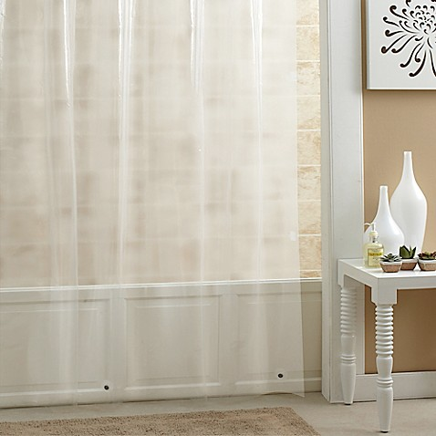 image of salt peva shower curtain liner