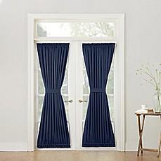 Sun Zero Bella 72-Inch Room Darkening Rod Pocket Door Panel & Door Curtains | Bed Bath u0026 Beyond