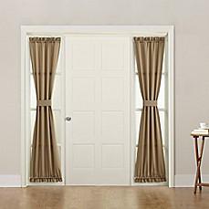 image of Sun Zero Bella 72-Inch Rod Pocket Room Darkening Sidelight Door Panel & Door Curtains - Bed Bath \u0026 Beyond
