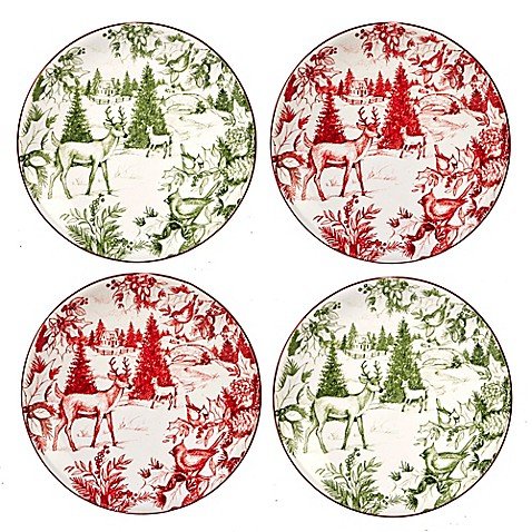 Certified international winter field notes tolie canape for Christmas canape plates
