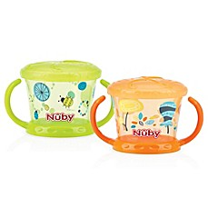 image of Nuby™ Snack Keeper in Green/Orange