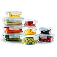 image of Neoflam® Cloc™ 18-Piece Food Storage Set in Clear