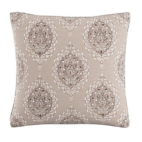 Throw Pillows For Taupe Couch : Skyline Furniture Damask Throw Pillow in Taupe - Bed Bath & Beyond