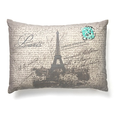 Amity Home Paris Throw Pillow In Grey Bed Bath Amp Beyond