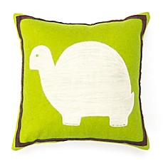 image of Amity Home Turtle Wool Felt Throw Pillow in Green