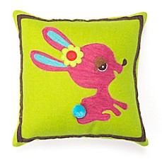 image of Amity Home Wool Bunny Square Throw Pillow