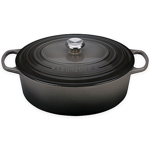 buy le creuset signature 8 qt oval dutch oven in oyster from bed bath beyond. Black Bedroom Furniture Sets. Home Design Ideas