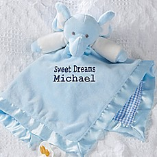 image of Elephant Baby Blankie in Blue