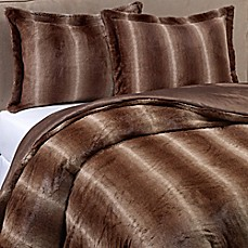 image of Mali Faux Fur Comforter Set