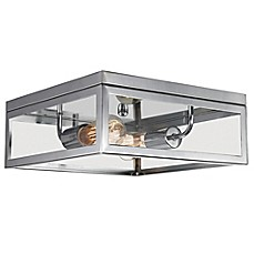 image of Globe Electric Memphis 2-Light Flush Mount Ceiling Light