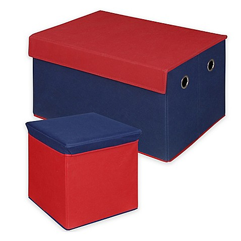 Collapsible Storage Cube Ottoman And Trunk Collection