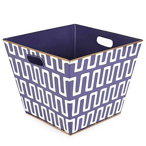 Jayes studio railroad storage bin in purple bed bath for Purple bathroom bin