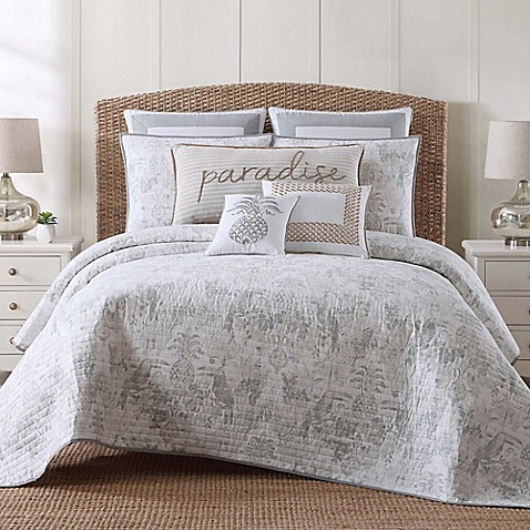 toile tropical bath quilt set product bed plantation beyond store