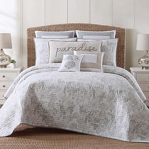 Tropical plantation toile quilt set bed bath beyond - Bed bath and beyond palm beach gardens ...
