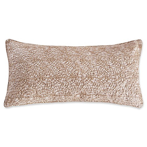Levtex Home Avery Gold Overlay Oblong Throw Pillow - Bed Bath & Beyond