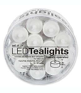 Velas Everlasting™ tealight con luz LED, Set de 24