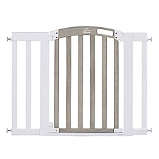 image of HomeSafe Classic Home Walk-Through Gate in White/Grey