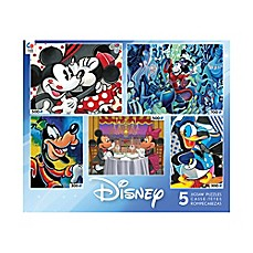 image of Classic Disney® Collection 5-in-1 Multi-Pack Jigsaw Puzzles