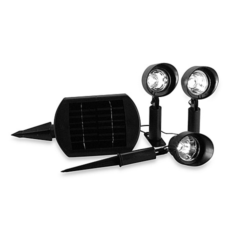 St. Petersburg® 3-Light Solar Powered Spotlight Set