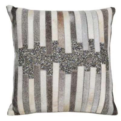 Grey Sequin Throw Pillow : Sequined Hide Square Throw Pillow in Grey - Bed Bath & Beyond