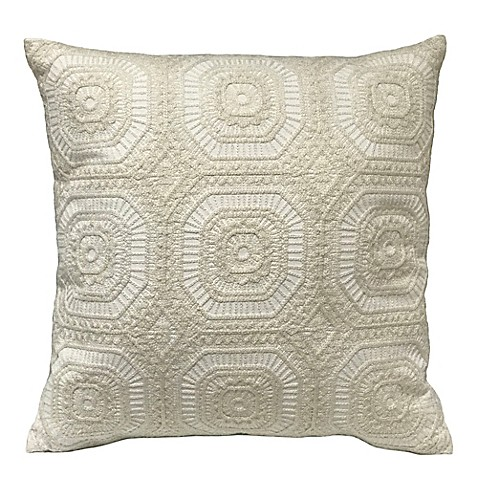 Ivory Lace Throw Pillow : Artisan Lace Square Throw Pillow in Ivory - Bed Bath & Beyond