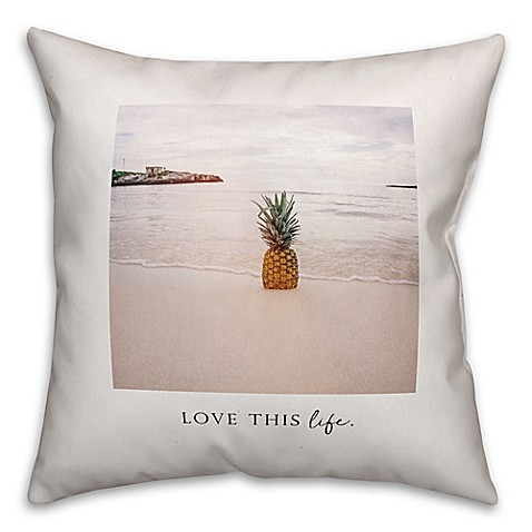 Love Life Throw Pillow : Designs Direct