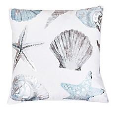 image of thro by mario lorenz lima shell throw pillow in bluesilver