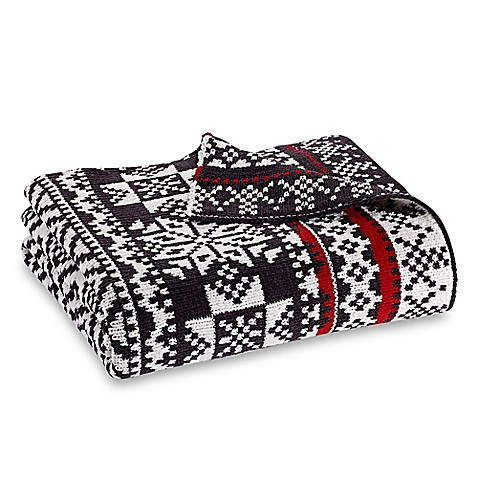 Fair Isle Throw Blanket in Grey/White - Bed Bath & Beyond