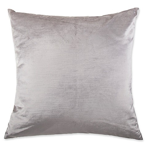 Buy Strie Velvet Square Throw Pillow in Light Grey from Bed Bath & Beyond