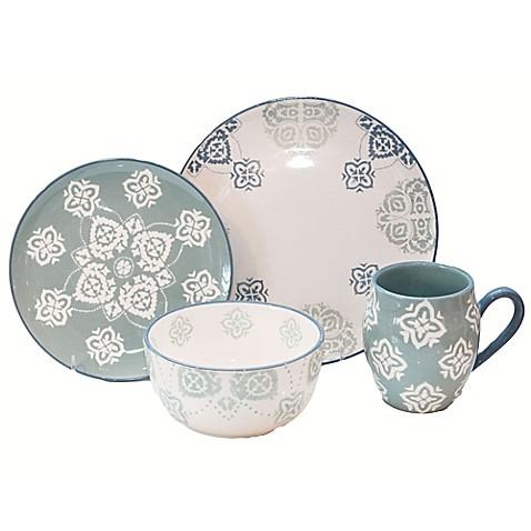 Baum Painterly 16-Piece Dinnerware Set in Turquoise  sc 1 st  Bed Bath \u0026 Beyond & Baum Painterly 16-Piece Dinnerware Set in Turquoise - Bed Bath \u0026 Beyond