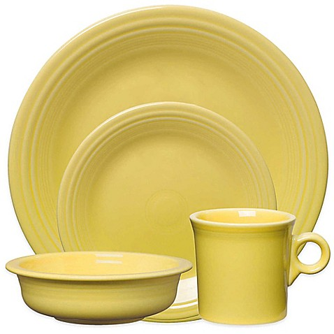 Fiestau0026reg; 4-Piece Place Setting in Sunflower  sc 1 st  Bed Bath u0026 Beyond & Fiesta® 4-Piece Place Setting in Sunflower - Bed Bath u0026 Beyond