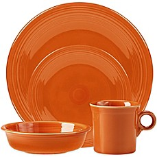 Fiesta® Dinnerware Collection in Tangerine & Fiesta | Bed Bath u0026 Beyond