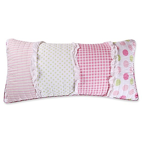 Levtex Home Melanie Ruffled Oblong Throw Pillow in Pink/White - Bed Bath & Beyond