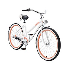 image of Body Glove Kwolla 26-Inch Women's Cruiser Bicycle in White
