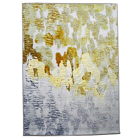 Buy oliver gal gold vs platinum 8 foot x 10 foot area rug for Accent rug vs area rug
