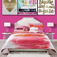 image of oliver gal miami sunrise comforter set