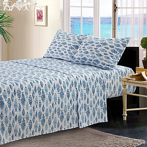 By the seashore fish sheet set bed bath beyond for Fish bedding twin