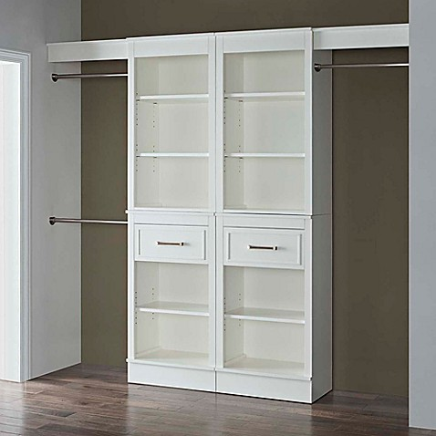 French Heritage Closet Organizer In White