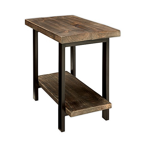 Pomona Metal And Reclaimed Wood End Table Bed Bath Amp Beyond