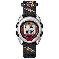 image of Timex® Time Machines Children's 34mm Flames Digital Watch with Black FastWrap® Strap