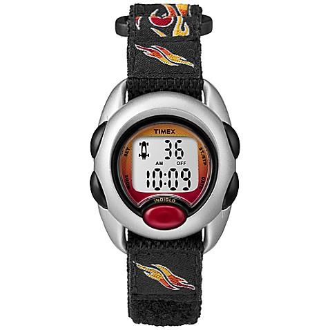 Timex Kids Digital Watch Black Flame Design Strap