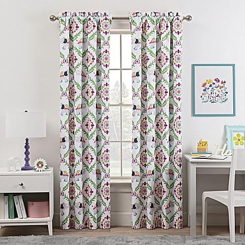 Waverly Kids Bollywood Rod Pocket Room Darkening Window Curtain Panel In Green Bed Bath Beyond