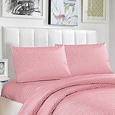 image of Lala + Bash Pollus Twin Sheet Set in Pink