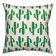 image of Cactus Throw Pillow in Green