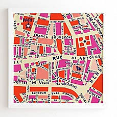 image of Deny Designs Holli Zollinger Paris Map Wall Art